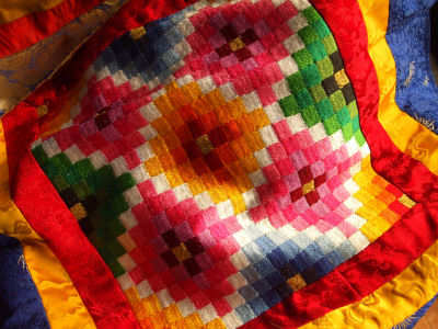 Beautiful Bhutanese tablecloth